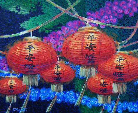 chinese lanterns painting by tommy midyette