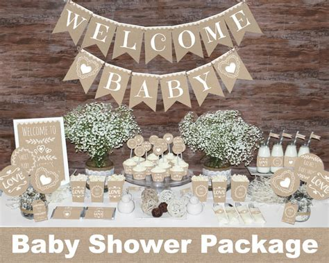 rustic baby shower theme rustic baby shower decorations printable gender neutral baby