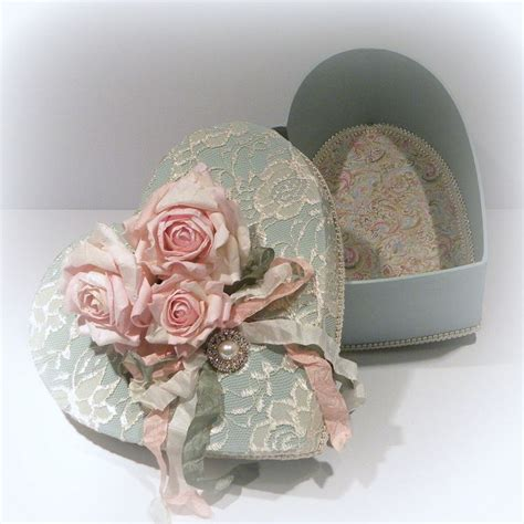 shabby chic boxes shabby chic box cottage chic box shabby chic decor vintage heart b