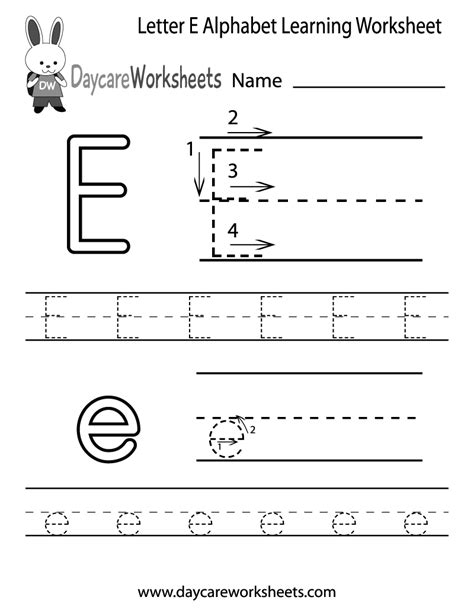preschoolers can color in the letter e and then trace it 624 | 815949432ad2337ccd2a70f109d294aa
