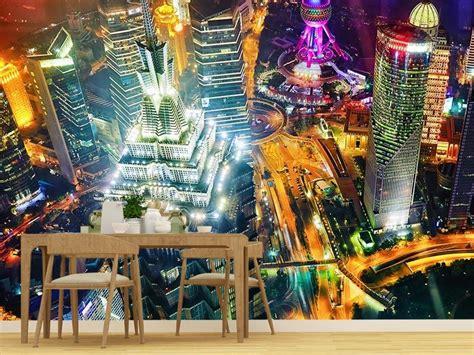 Фотообої Нічний Шанхай купити на стіну • Еко Шпалери