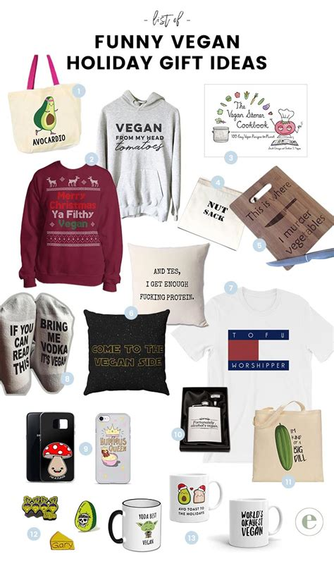hilariously clever funny vegan gift ideas   holidays