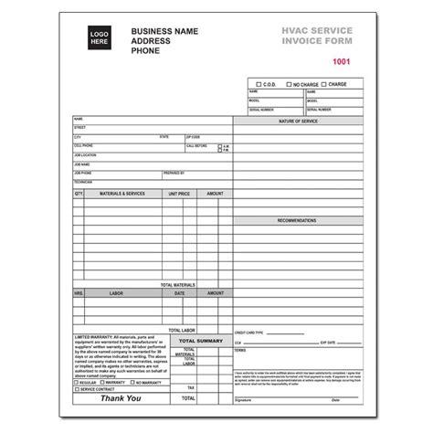 hvac invoice template hvac service invoice form custom carbonless printing designsnprint