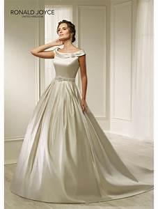 ronald joyce 69212 harmony clean line satin dress ivory With clean wedding dress