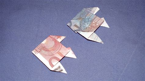 fische aus geld basteln geldgeschenke geldschein fisch falten