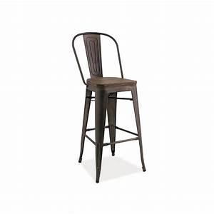 Tabouret Bar Bois : tabouret de bar industriel lofto ii assise bois ~ Teatrodelosmanantiales.com Idées de Décoration