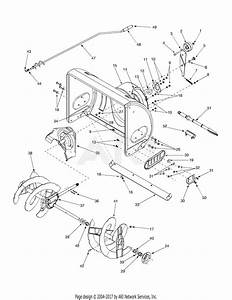 Mtd 31ae643g131  2003  Parts Diagram For Auger Housing