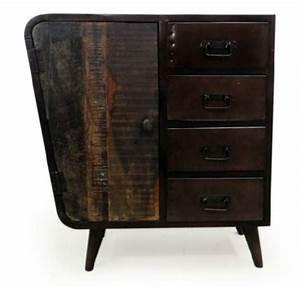 Mobilier Bois Design : mobilier vintage bois et acier mathidesign mobilier design original ~ Melissatoandfro.com Idées de Décoration