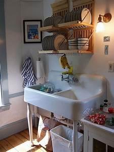 Antique, Plate, Rack, Design, Ideas, For, Your, Vintage, Kitchen