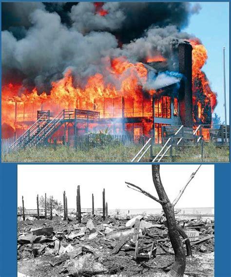 shocking home fire photo  debordieu colony pawleys