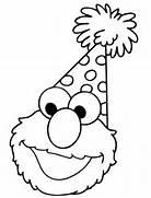 Elmo Opens Birthday Pr...Elmo Birthday Coloring Pages