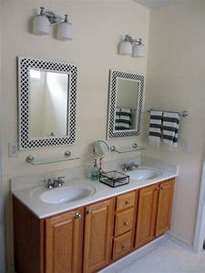 My painted bathroom vanity before and after two delighted for Painted vanities bathrooms