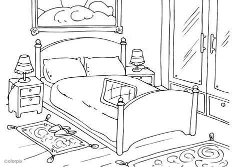 chambre à arles dibujo para colorear dormitorio img 25998
