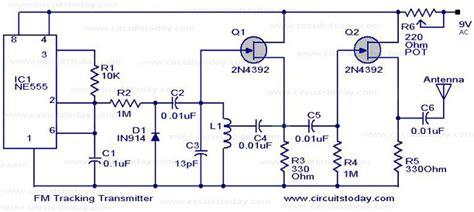 Tracking Transmitterelectronics Project Circuts