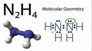 N2h4 Molecular Geometry And Bond Angles