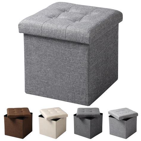 coffre siege rangement coffre de rangement tabouret pliable pouf siège banquette diverses choix f212 ebay