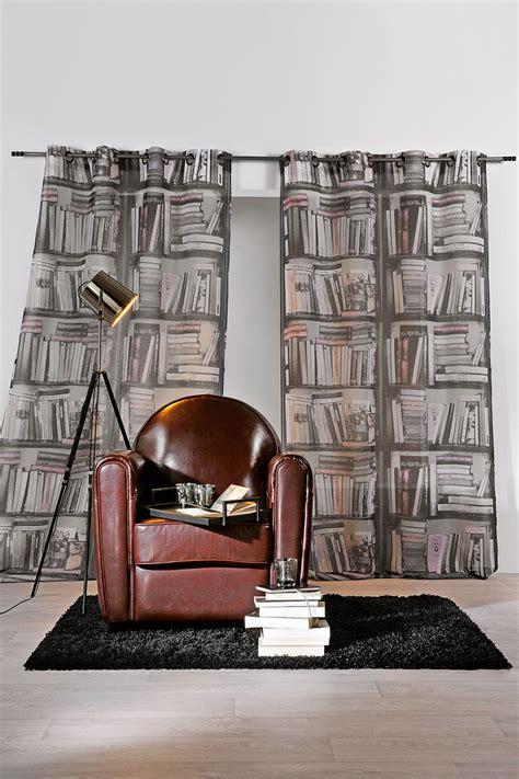 rideau en trompe l oeil quot biblioth 232 que quot gris homemaison vente en ligne rideaux
