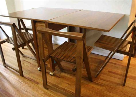Folding Table With Chair Storage