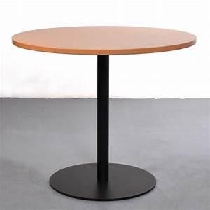 Runder Tisch 90 Cm : febr runder tisch gebraucht 90 buche metall schwarz b ro besprechung meeting ~ Whattoseeinmadrid.com Haus und Dekorationen