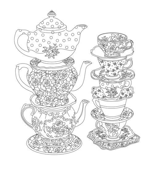 Elegant Tea Party Coloring Book By Kent Sorsky Issuu
