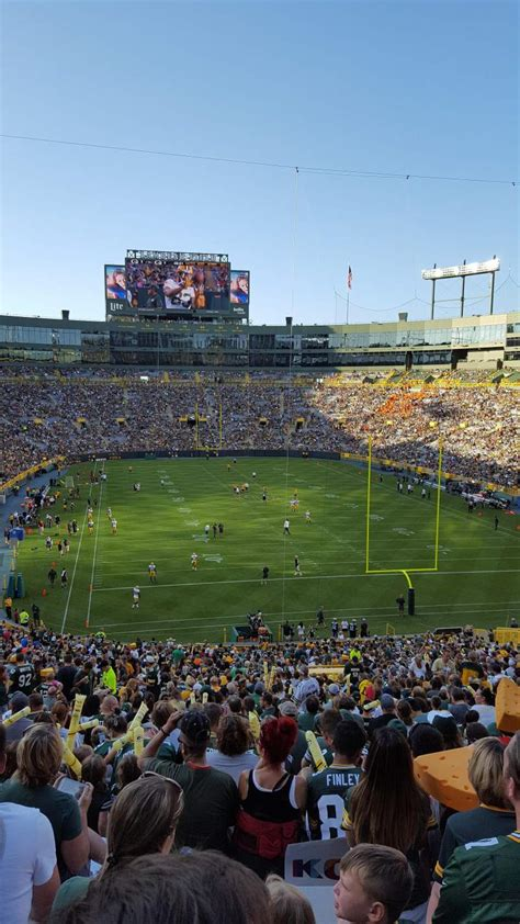 lambeau field section  home  green bay packers