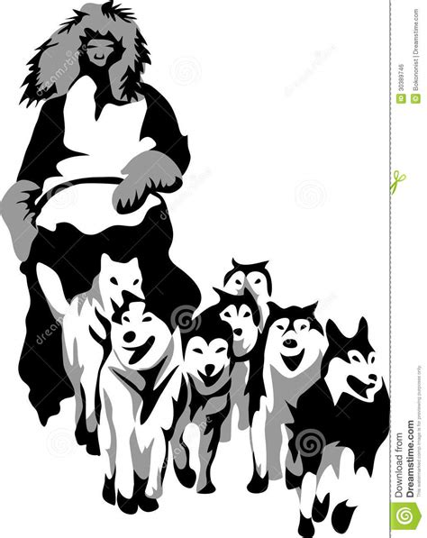 Musher stock vector. Image of cold, activity, sledding ...