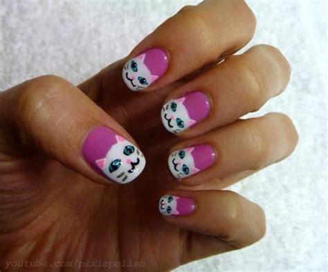cat nail designs catsparella pretty kitty nail tutorial