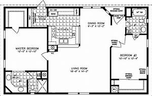 1000 sq foot house plans | The TNR-4446B - Manufactured ...