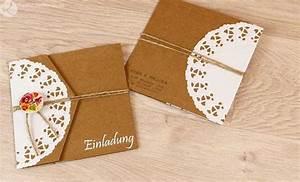 Geburtstagseinladungen Selber Gestalten : selber basteln diy rustikal vintage einladung hochzeitseinladung ~ Watch28wear.com Haus und Dekorationen