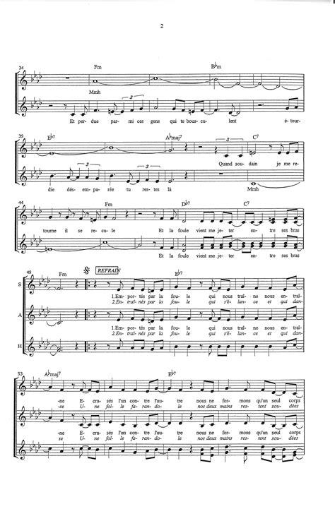paroles le vent nous portera partition de musique 233 diteur de partitions pour chorale