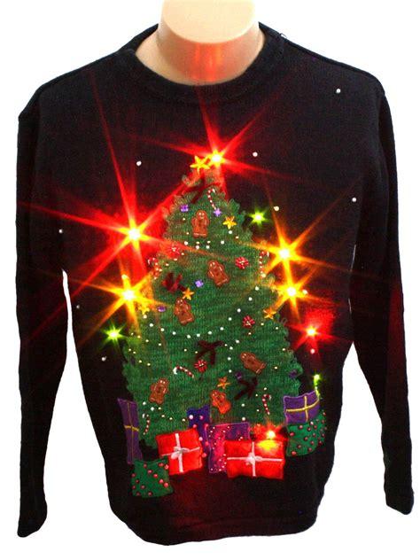 ugly light up christmas sweaters light up ugly christmas sweater bobbie brooks unisex