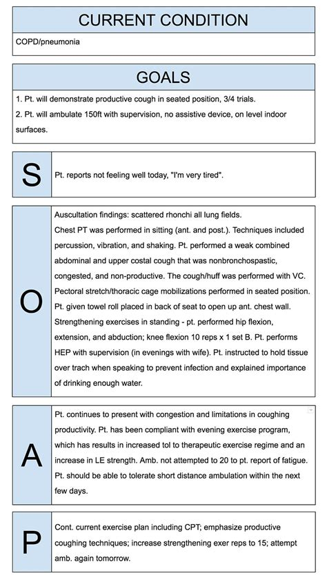 write incredible physical therapist soap notes