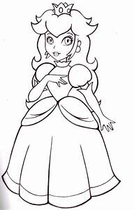 Mario And Princess Peach Coloring Pages - Coloring Home