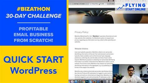 wordpress quick start menu theme privacy terms
