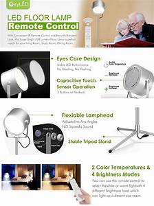 oxyled f10 remote control led floor lamp super bright 700 With oxyledf10 remote control led floor lamp
