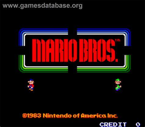 Mario Bros Arcade Games Database