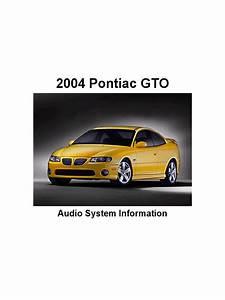 Gto Audio System Information