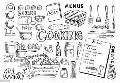 Cooking Doodles Illustration Illustrations Recipe Vector Kitchen