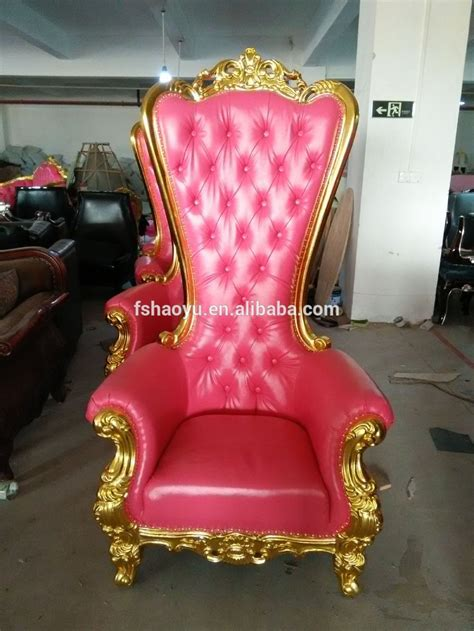golden wood king throne chairred velvet cheap king throne