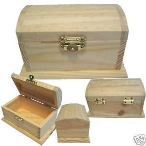 New Wood Pirate Treasure Chest Storagecoinmoneystash Trinket Box + Free Gift Ebay