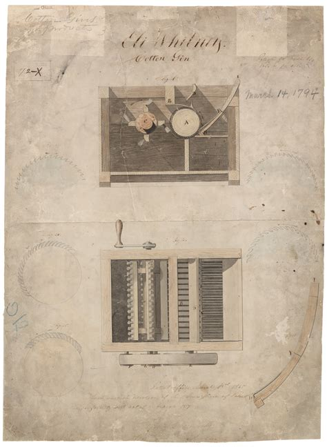 eli whitneys patent   cotton gin national archives