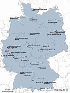 Standorte Der Bundeswehr : stationierung der musikkorps der bundeswehr von kupeke landkarte f r deutschland ~ Watch28wear.com Haus und Dekorationen