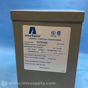 Acme Electric T279740s General Purpose Transformer