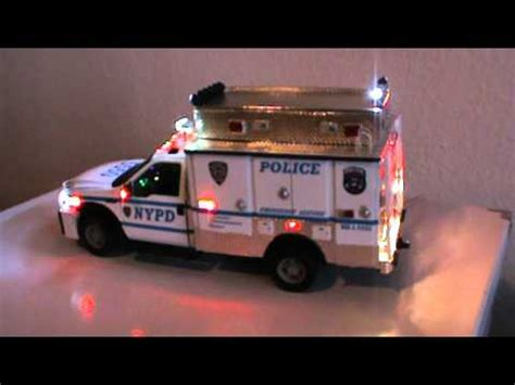 truck lights and sirens 1 18 nypd esu truck with lights siren custom made