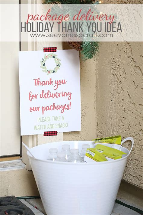 christmas gift for ups driver thank you idea for package delivery kid network activities crafts thank