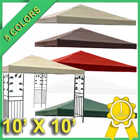 replacement canopy cover 10x10 gazebo canopy replacement covers 10 215 10 outdoor furniture