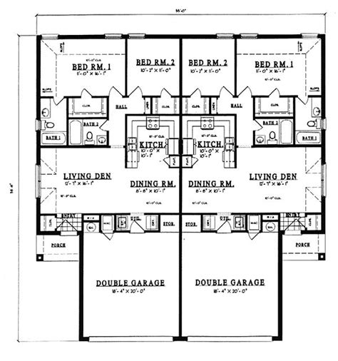 width house feet depth house feet total living area sq ft duplex plan