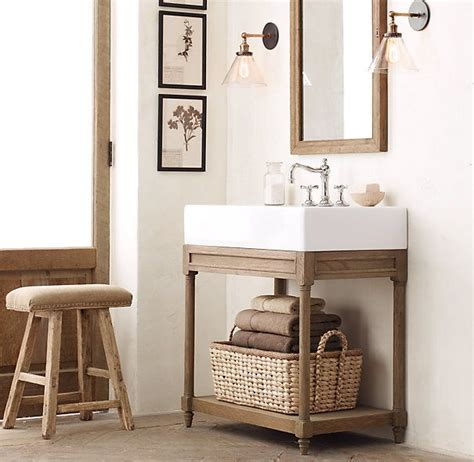 Single Sink Consoles Bathroom by Weathered Oak Single Console Sink Home