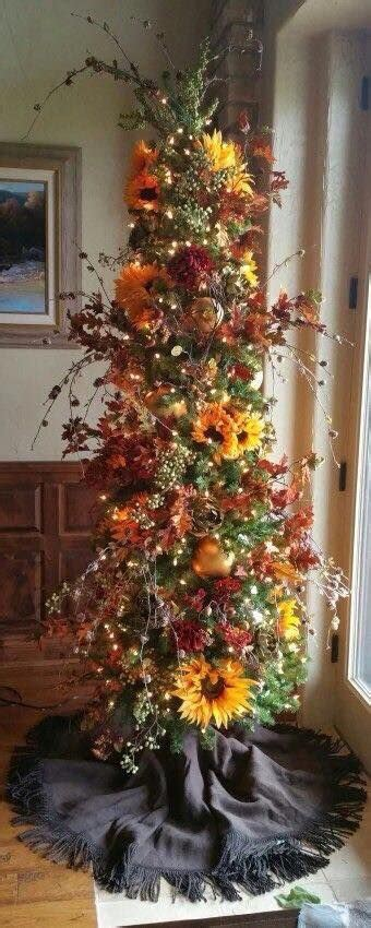 Decorating Ideas For Trees by Festive Fall Decorating Tree Ideas Debbiedoos