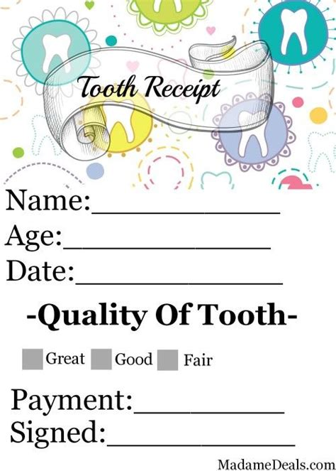 printable tooth fairy letters printables